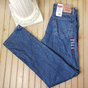 NWT Levi's 505 34x36 Straight Fit Stonewash Jeans
